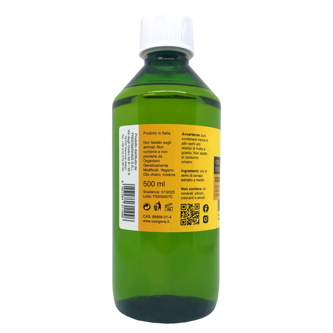 Olio di Canapa 100% Puro – Vegan 450 x 500 ml (225000ml)