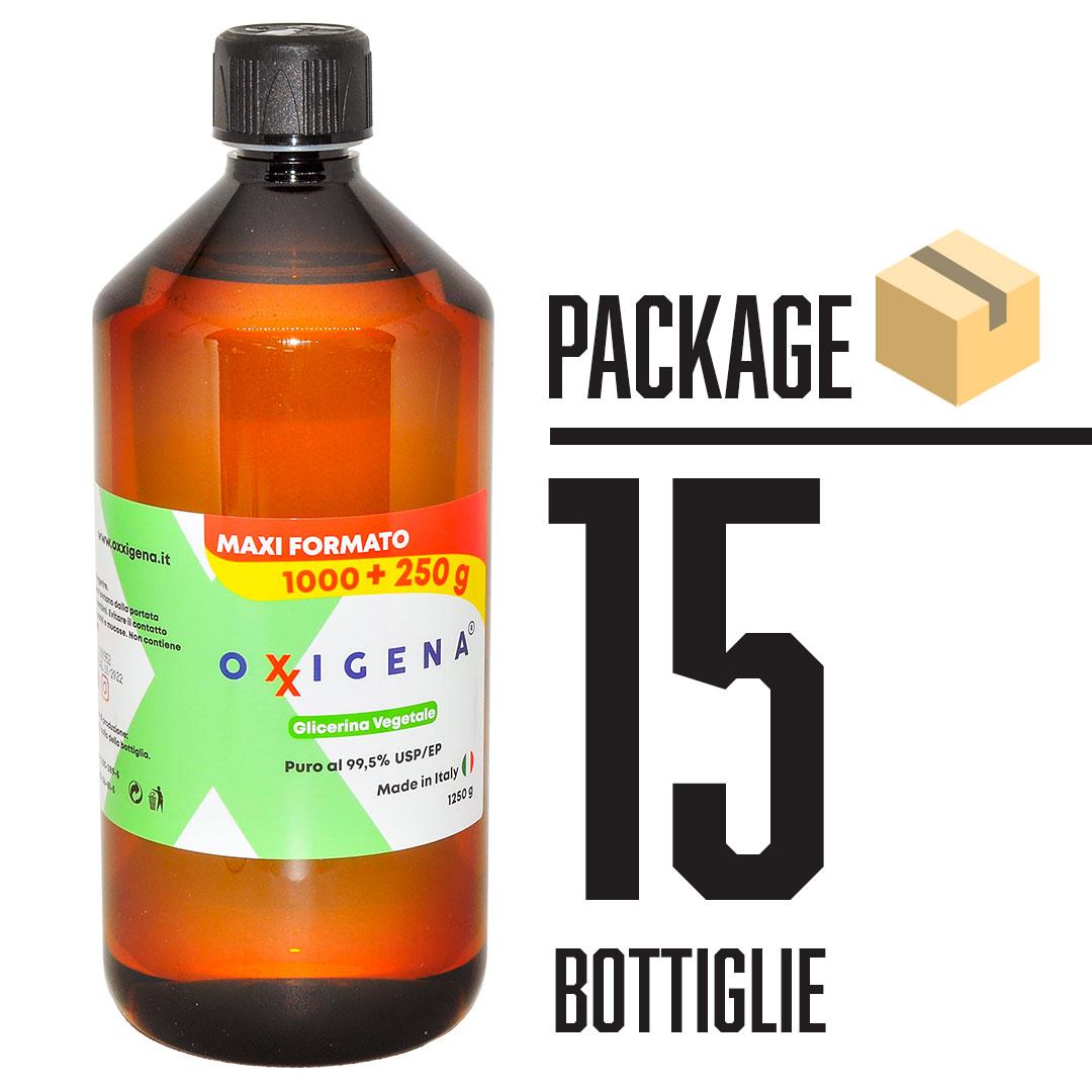Glicerina Vegetale (Glicerolo) Liquida Pura 15 x 1L (15000ml)