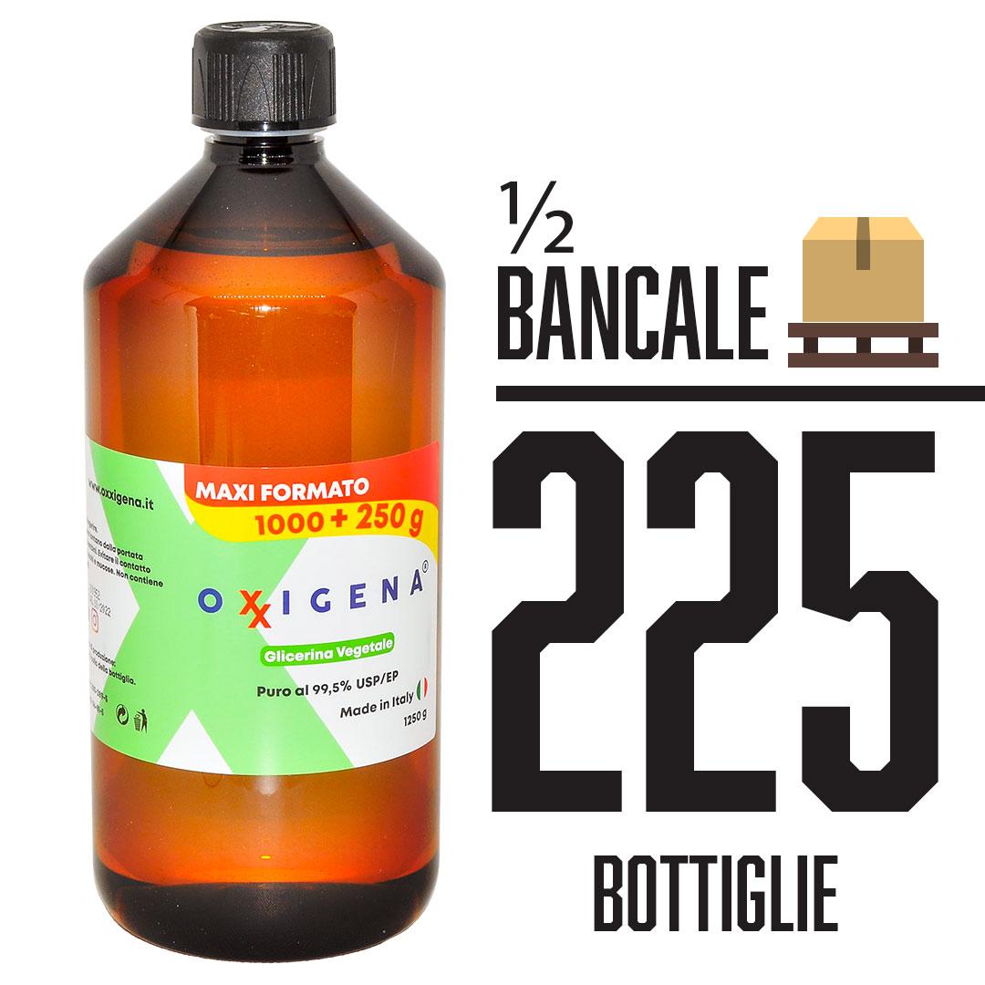 Glicerina Vegetale (Glicerolo) Liquida Pura 225 x 1L (225000ml)
