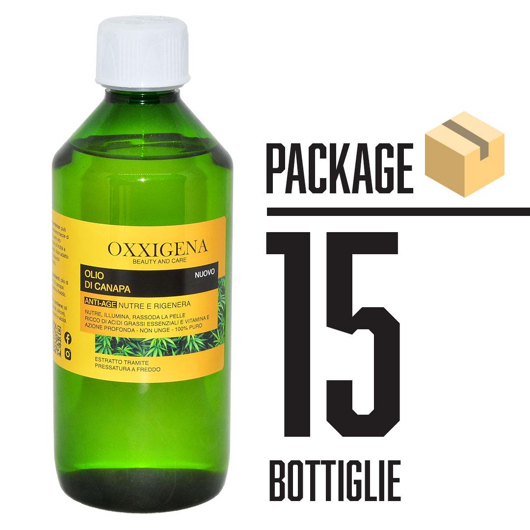 Olio di Canapa 100% Puro – Vegan 15 x 500 ml (7500ml)