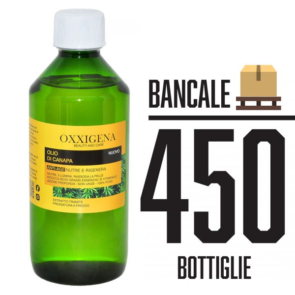 Olio di Canapa 100% Puro - Vegan 450 x 500 ml (225000ml)