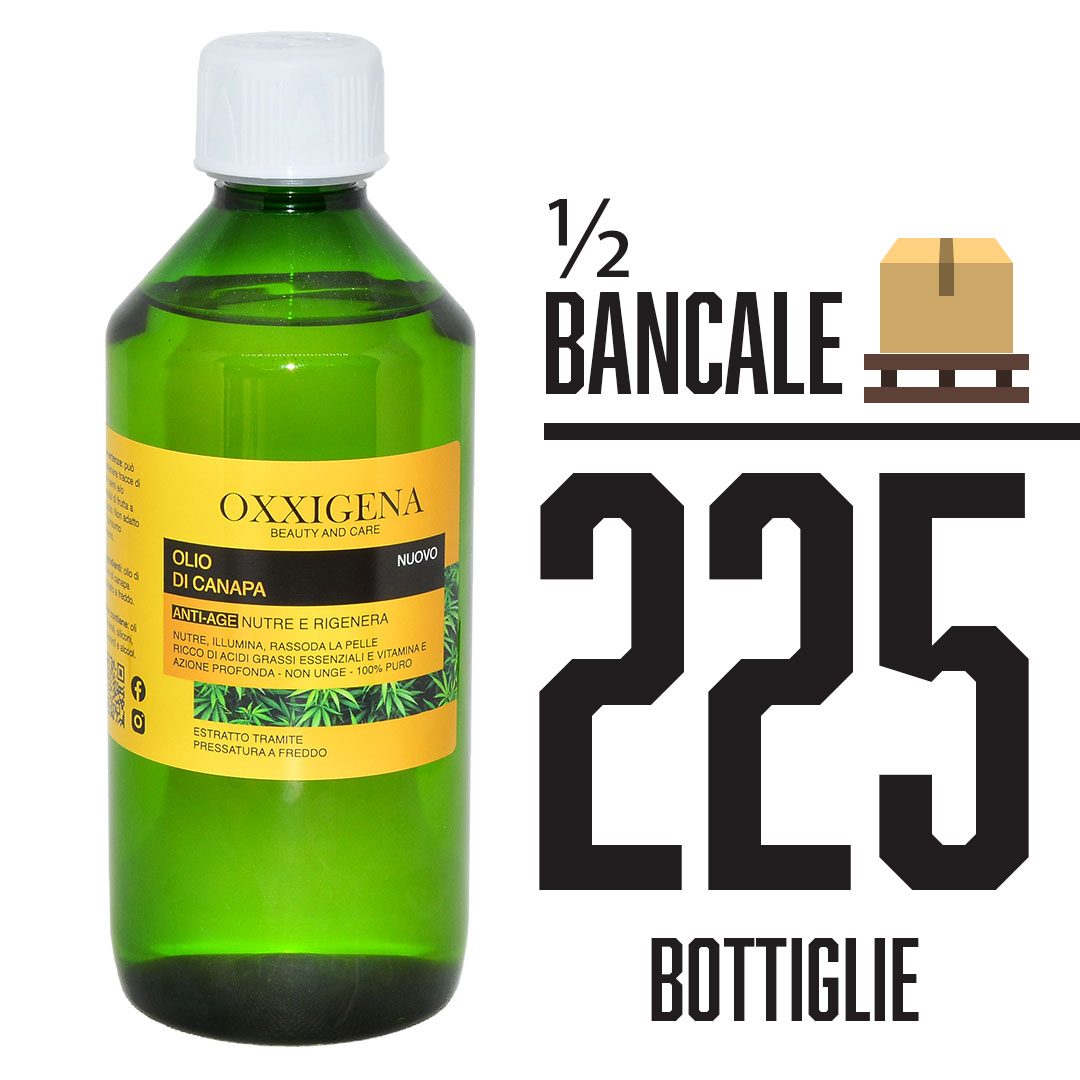 Olio di Canapa 100% Puro – Vegan 225 x 500 ml (112500ml)